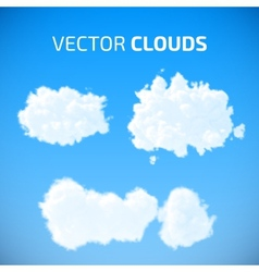 cloud set Blue sky with clouds vector image