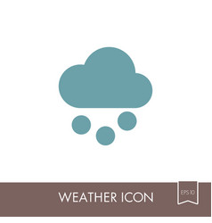 Cloud with snow grain icon meteorology weather vector