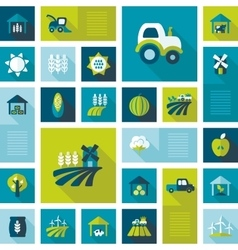 Colorful Farm Field flat icon with long shadow vector image