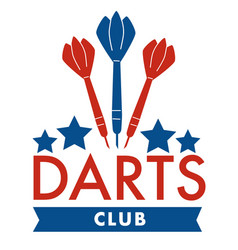 darts club arrows and stars sports banner vector image