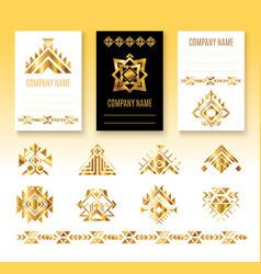 ethnic corporate brochure template vector image