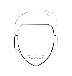 faceless man character vector image