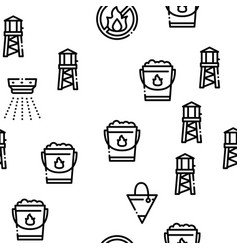 firefighter equipment seamless pattern vector image