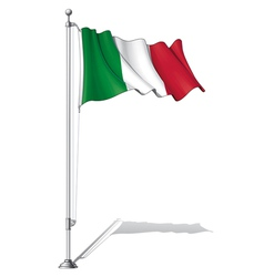 Flag Pole Italy vector image