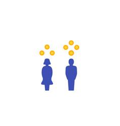 gender gap in salary icon vector image
