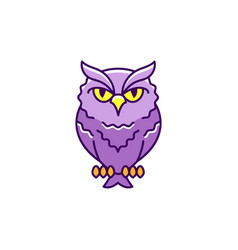 halloween icon eagle-owl thin line art vector image