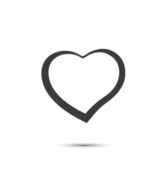 Heart sign black icon on a white background vector