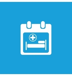 Hospital calendar icon white vector