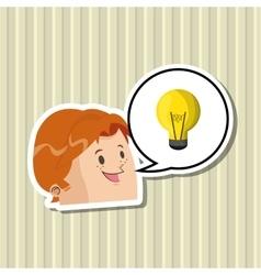 Idea design bulb icon thinking concept vector