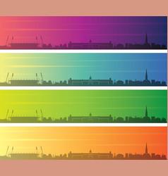 karlsruhe multiple color gradient skyline banner vector image