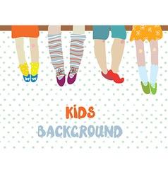 Kids background for kindergarten banner or card vector image