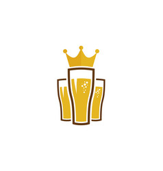 king beer logo icon design vector image
