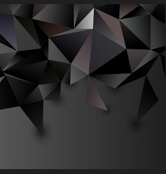low poly abstract futuristic background vector image