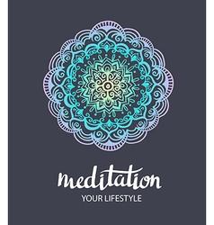 Mandala backgraund decorative template Trance Hand vector