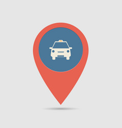 map pin taxi vector image