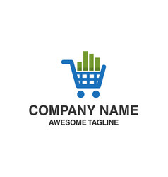 market shop logo financial shopping logo market vector image