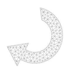 mesh rotate icon vector image
