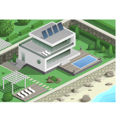 Modern villa on the coast vector