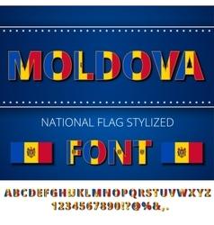 Moldova Flag Font vector