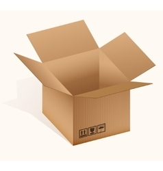 Open cardboard box vector image
