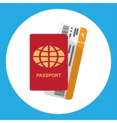 Passport and boarding pass vector image