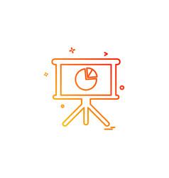 pie chart board design vector image