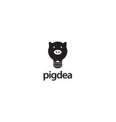 pig idea logo design concept vector image