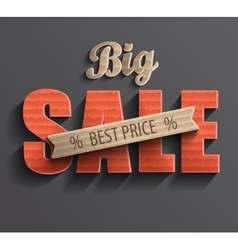 Poster big sale vector