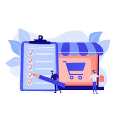 Purchase agreement concept vector