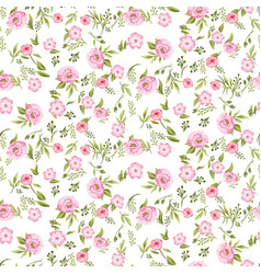rose peony flowers seamless pattern texture vector image