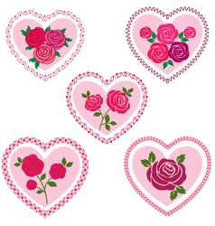 rose valentine hearts vector image