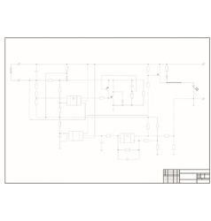 schematic diagram power circuit vector image