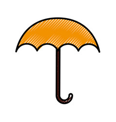 Scribble cute umbrella cartoon vector