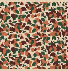 Seamless desert camouflage pattern khaki texture vector