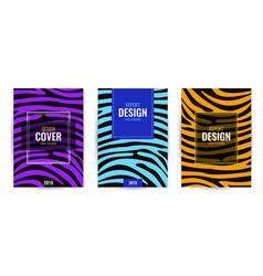 set design brown blue and violet poster vector image