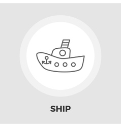 Ship toy flat icon vector image