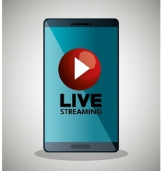 smartphone video line streaming icon design vector image