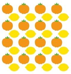 Tangerine and lemon fruits background design vector