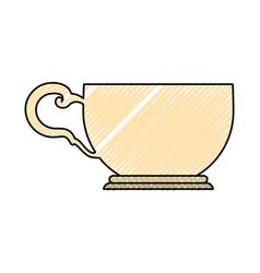 Tea cup isolated vector