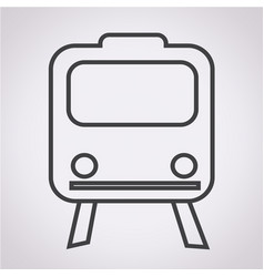 train icon train transportation icon vector image