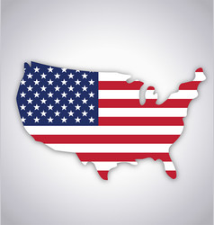 Usa america flag in map symbol vector