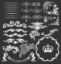 Vintage floral decorative label template vector image