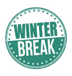 Winter break sign or stamp vector