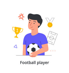 young male character is enjoing is making a career vector image