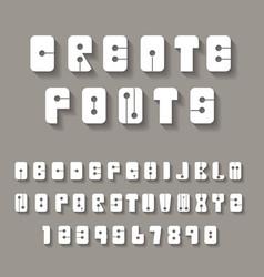 creative alphabets vector image