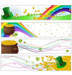 saint patrick day party banners vector image vector image