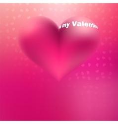beautiful pink glossy heart shape EPS8 vector image vector image