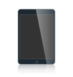 Black business tablet isolated on white background vector image vector image