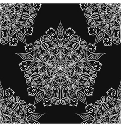 Handmade decorative ethnic seamless pattern in vector image