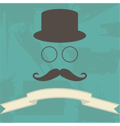 Hipster on Abstract Background vector image